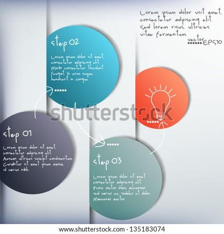 Vector Paper Progress background. Infographic design. - stock vector