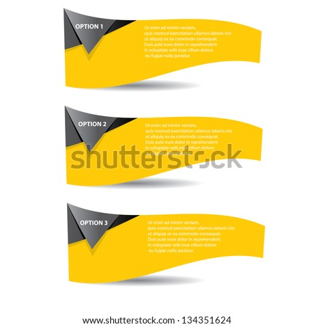 Vector Paper Progress background / product choice or versions. abstract orange vector banner. orange website background. orange square vector banners set. - stock vector