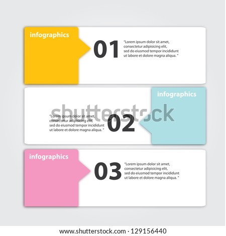 Vector Paper Progress background / product choice or versions. banner set. cover design elements. infographics template - stock vector