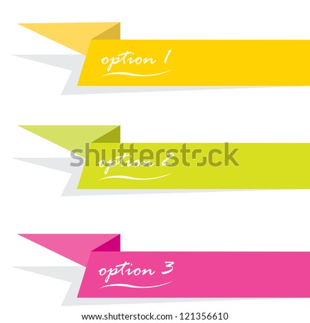 Vector Paper Progress background / product choice or versions. Glossy design elements - stock vector