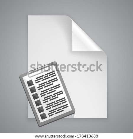 vector paper symbol tablet