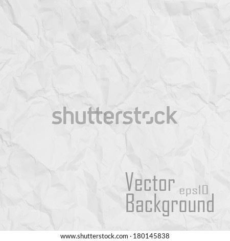Vector. Paper texture. White paper sheet. - stock vector