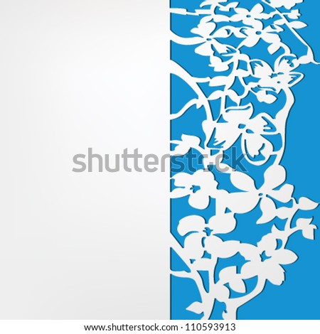 Vector paper flowers cutout patterns vector stock vector 110593913 vector paper with flowers cut out patterns vector illustration mightylinksfo