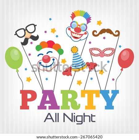 Vector party flat illustration - stock vector