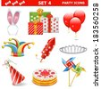 Vector Party Icons Set 4 - stock vector