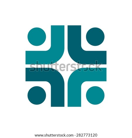 Vector Party People community Logo icon Template - stock vector