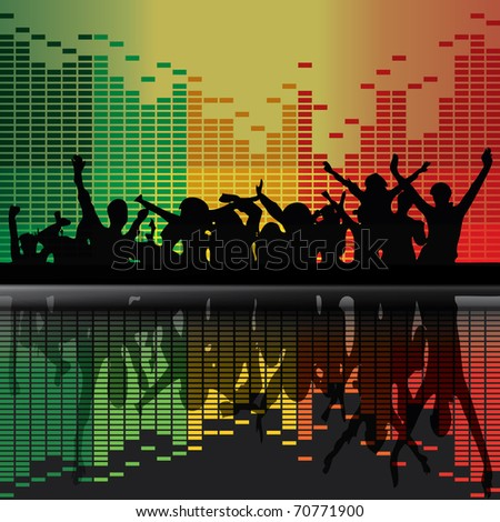 Vector Party Peoples - stock vector