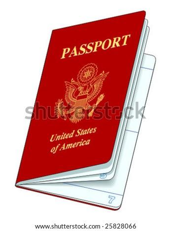 vector passport - stock vector