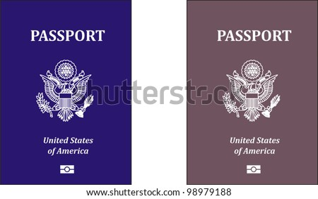vector passports - stock vector