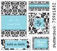 Vector Pastel Frame Set. Easy to edit. Perfect for invitations or announcements. - stock vector