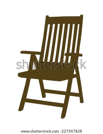 Vector patio chair  - stock vector