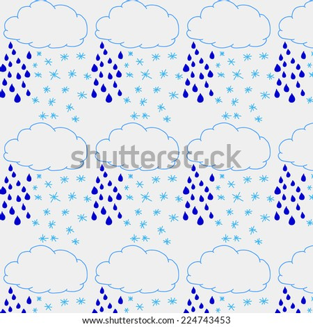 Vector pattern background, cloud precipitation