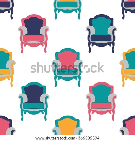 Vector pattern chair  illustration