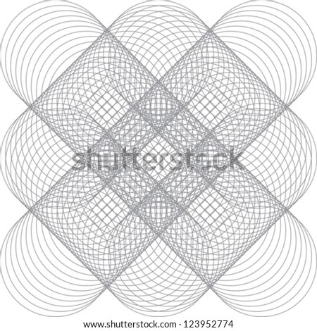 Vector pattern for certificate or diploma - stock vector