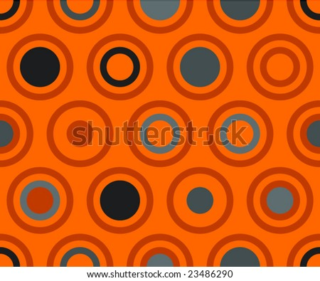 Vector pattern in orange colors
