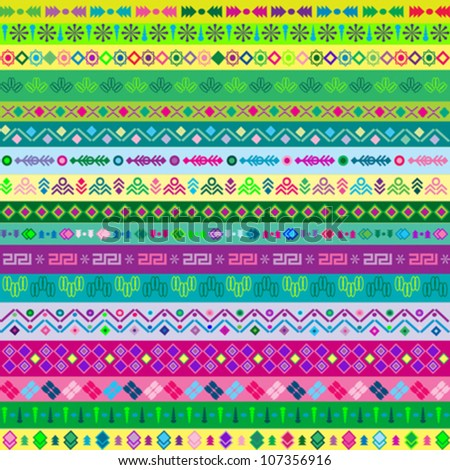 vector pattern including African stripe with geometrically elements