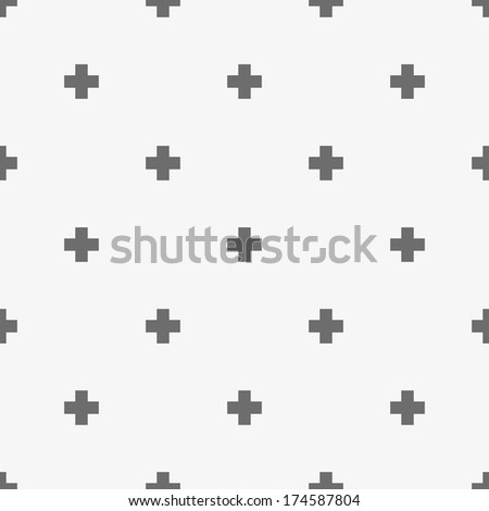Vector pattern made with little cross - stock vector