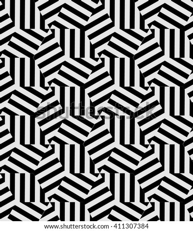Vector pattern. Modern stylish texture. Repeating geometric tiles from striped triangles