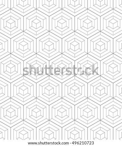 Vector pattern. Modern stylish texture. Repeating geometric tiles with chevron elements.