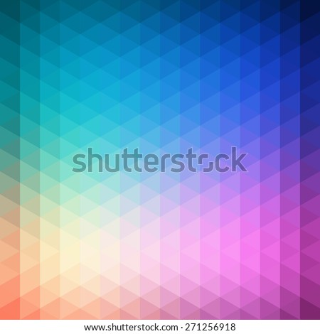 Vector pattern of geometric shapes. Colorful-mosaic-banner. Geometric hipster retro background with place for your text. Retro triangle background - stock vector