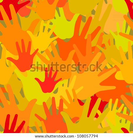 Vector pattern of the palms - stock vector