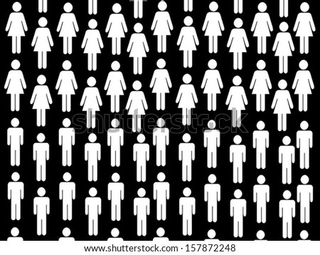 Vector pattern people background - stock vector