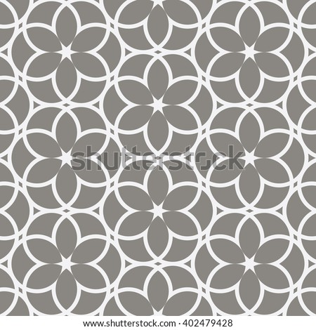 Vector pattern. Repeating geometric abstract flower  - stock vector