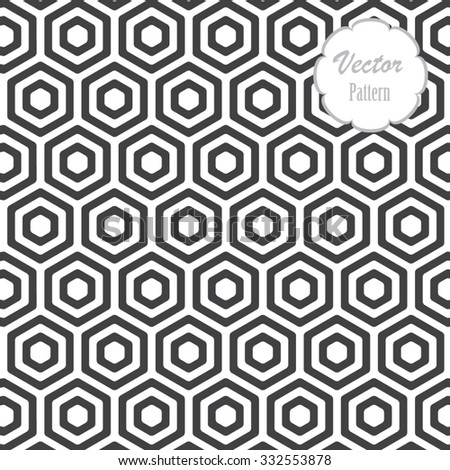 Vector pattern, Repeating geometric tiles with filled with rounded corner of hexagons - stock vector
