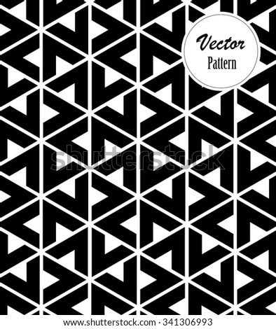 Vector pattern, repeating geometric triangle and chevron shape