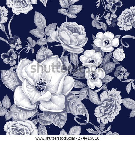 Black And White Flower Pattern Stock Images Royalty Free Images