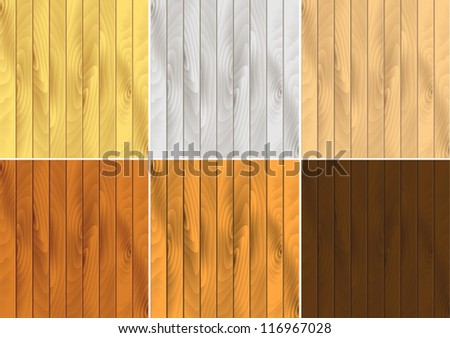 Vector pattern set of wood textures
