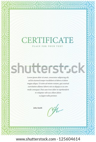 Vector pattern that is used in certificate, currency and diplomas. Vector illustration