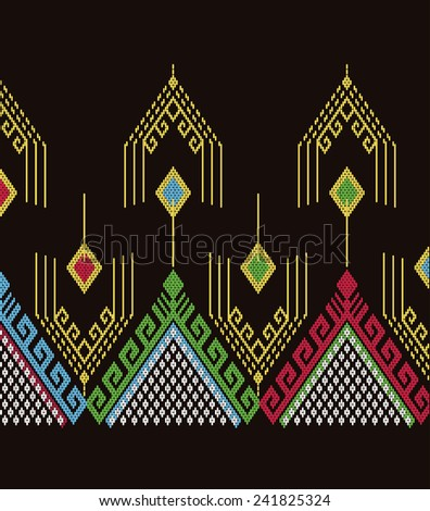 Vector pattern tribal ethnic.Abstract beautiful background. - stock vector
