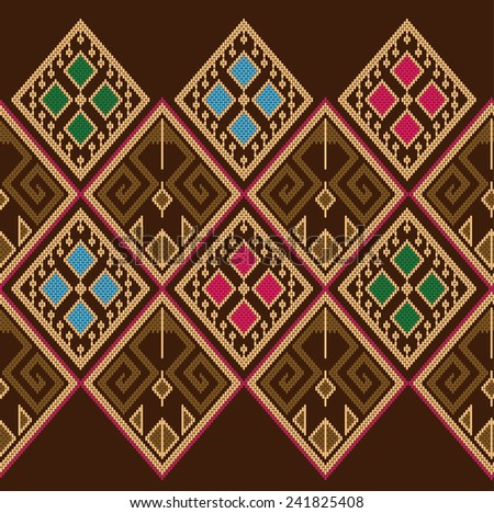 Vector pattern tribal ethnic.Background colorful shape. - stock vector