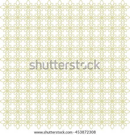 Vector pattern with art ornament. Elements for design . Ornamental lace tracery backgroun . Green white. - stock vector