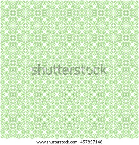 Vector pattern with art ornament. Elements for design . Ornamental lace tracery backgroun .Green  white. - stock vector