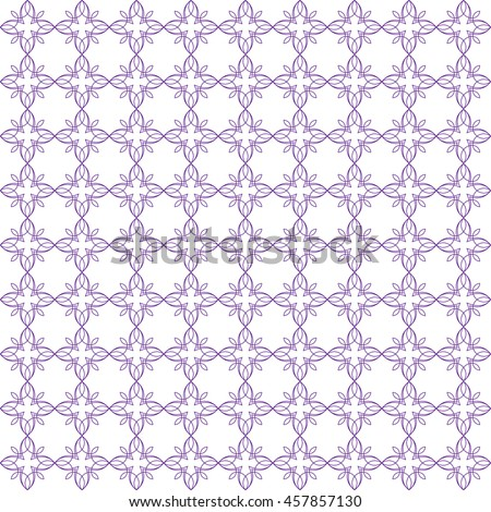 Vector pattern with art ornament. Elements for design . Ornamental lace tracery backgroun . Purple white. - stock vector