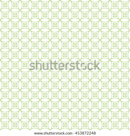 Vector pattern with art ornament. Elements for design . Ornamental lace tracery background . Green  white. - stock vector