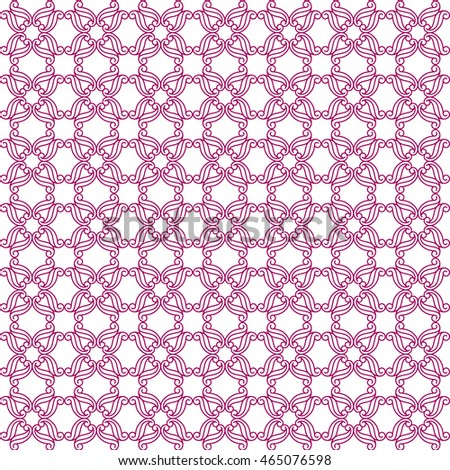 Vector pattern with art ornament. Elements for design . Ornamental lace tracery background .Purple white.