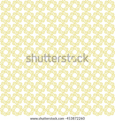 Vector pattern with art ornament. Elements for design . Ornamental lace tracery background .Yellow white. - stock vector