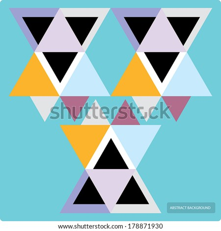 Vector pattern with colorful geometric shapes, triangles,lines.Colorful backdrop, seamless background pattern, banner. - stock vector