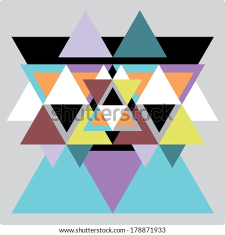 Vector pattern with colorful geometric shapes, triangles,lines.Colorful backdrop, seamless background pattern, banner.