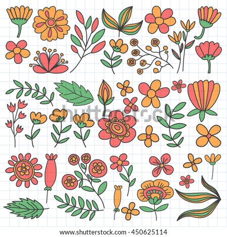 Vector pattern with flowers Garden Birhday Wedding Postcard