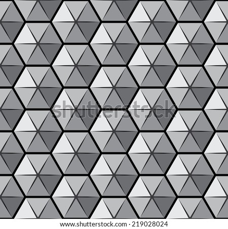 Vector pattern with open hexagons