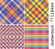Vector patterns color ideas - stock vector