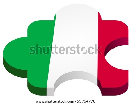 vector pazl with national symbolics - stock vector