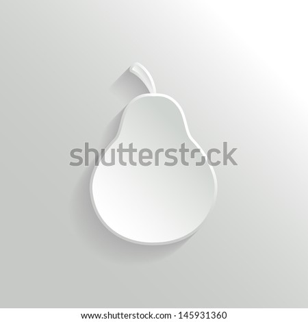 Vector Pear Icon - stock vector