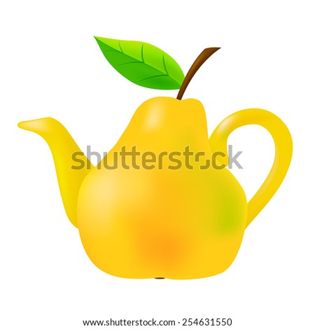 Vector Pear Teapot  - stock vector