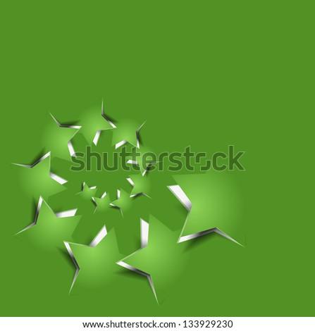 vector peel off star, eps10 illustration. - stock vector