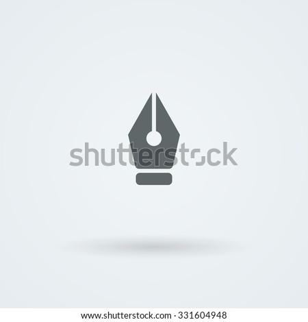 Vector pen icon. Logo. Pictogram. Button. - stock vector